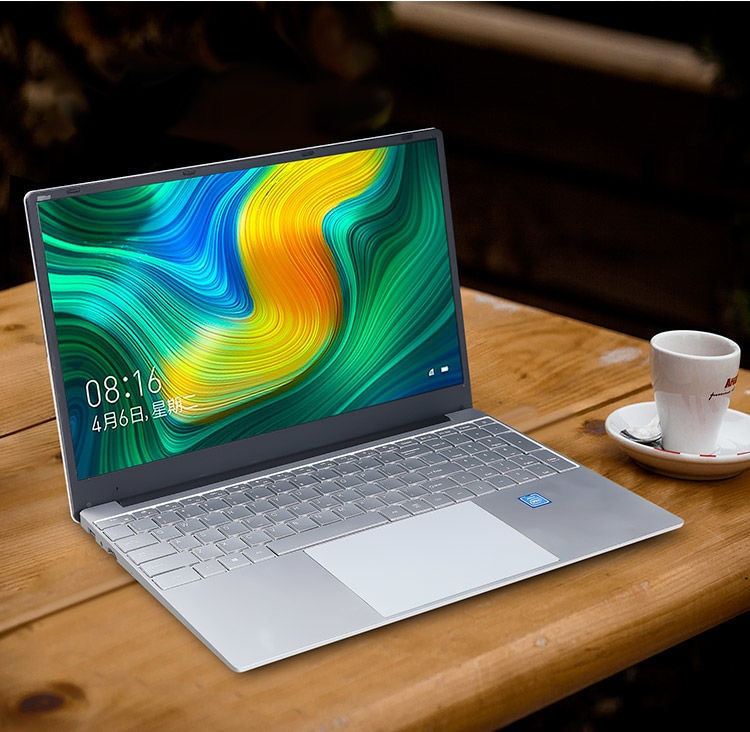 Factory Wholesale Custom 15.6 Inch HD Slim 8GB + 256GB/512GB HDD Fast Running Quad Core WIN10 All In One Laptop Computer