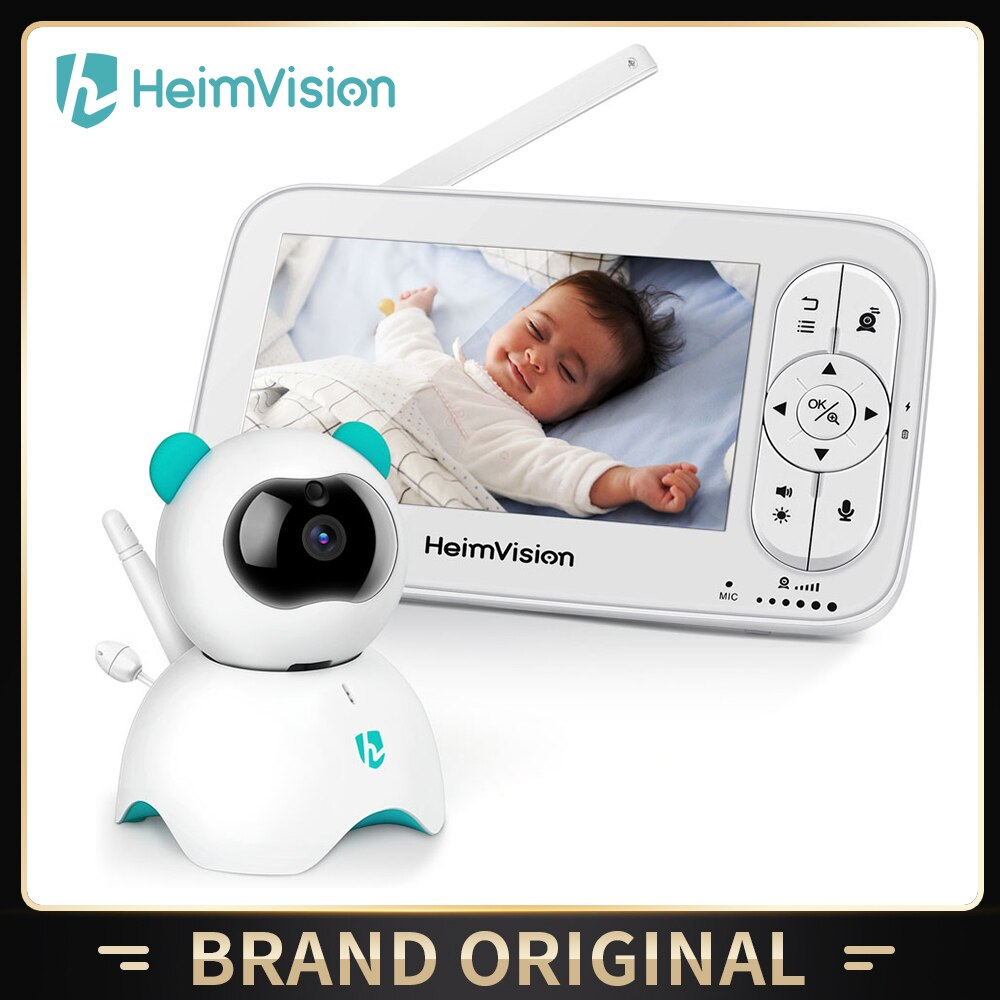 HeimVision HMA36MQ Baby Monitor with Camera Wireless Video Nanny 720P HD Security Night Vision Temperature Sleep Camera 5.0 Inch