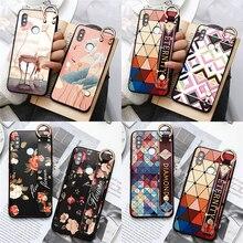 Dragonne Flower Case Holder Pour Xiaomi redmi Note 8 9 Pro 7 5 6 8T 7A 8A Mi A3 A1 A2 5X 9 8 Lite 10 9T F1 CC9 CC9e TPU Case