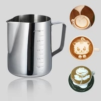 stainless steel milk frothing jug milk cream cup coffee creamer latte art pitcher with spout durable kitchen coffee accessories