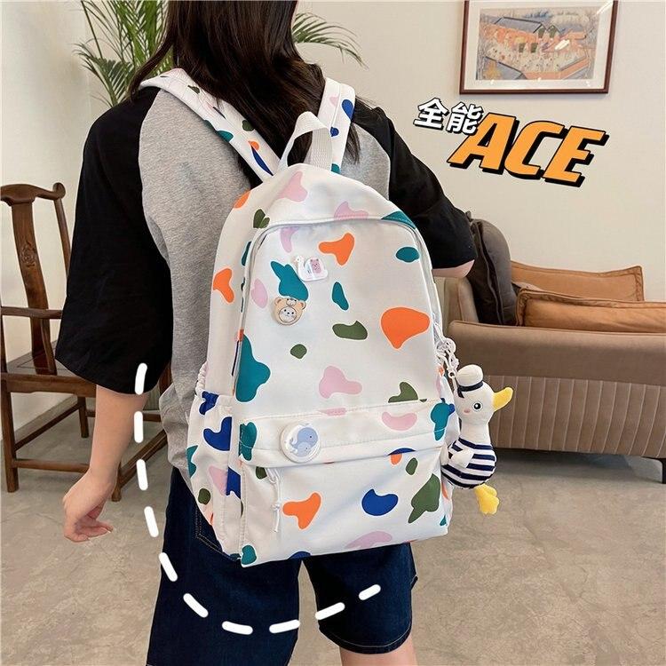 Korean Bags For Women Backpacks For School Teenagers Girls Nylon Backpack Kawaii Backpacks For Women Mochila Feminina Bolso usb charging backpacks women girls backpack school bags for teenagers 2018 new mochila feminina students satchel high quality