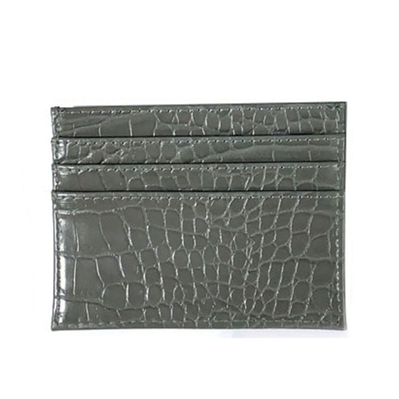 2020 New Classic Leather Card Holder Men Women Fashion Brand Luxury Case Ostrich Pattern Credit Slim Wallet