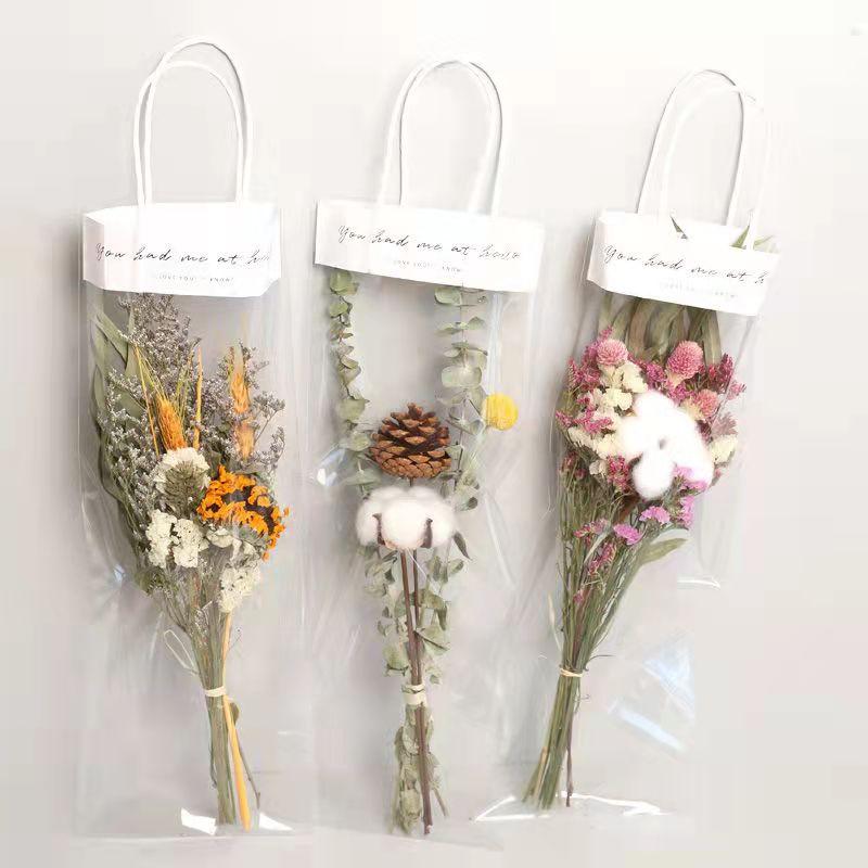 Dry Flower Bouquet Exquisite Birthday Gift For Friends Advanced Sense Of Creativity Hand Gift Simulation Flower Handbag Set