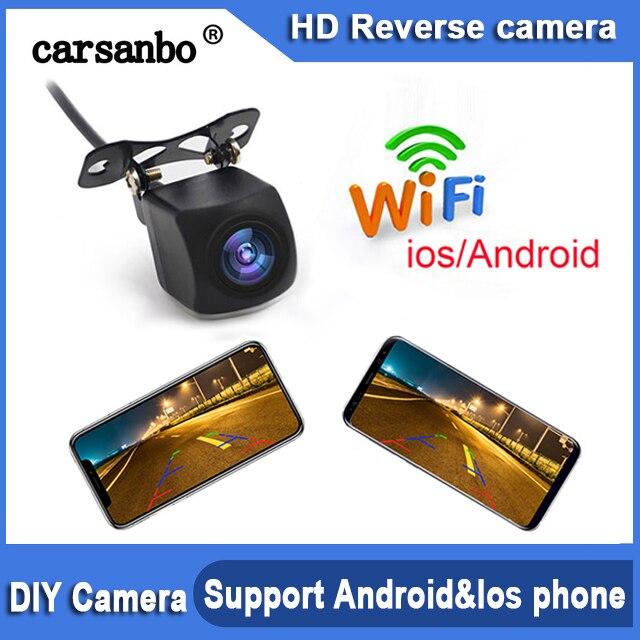 720P HD wifi камера заднего вида для автомобиля, передняя и задняя Поддержка android и ios система мобильного телефона простое крепление F-car APP