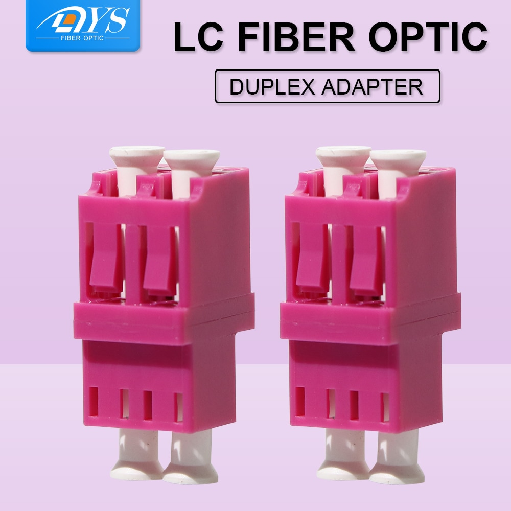50pcs Optic Fiber Adapter Coupler LC PC APC OM4 SM/MM Connector Duplex LC Optic Fiber Connector without FLange
