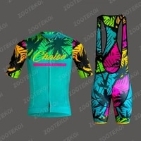 chaise outdoor team cycling jersey set man triathlon mountain bicycle clothing suit maillot ciclismo breathable short sleeve