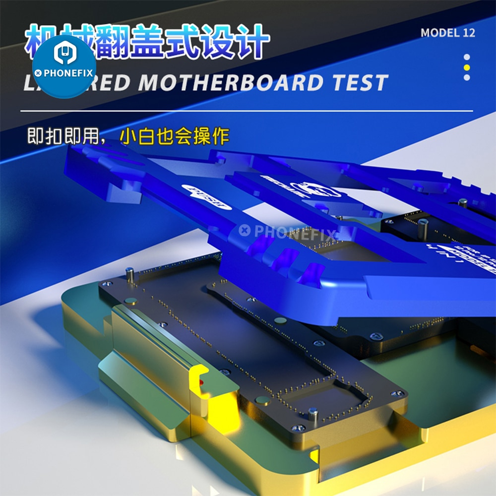 Get Mechanic iSocket Test Fixture 4 IN 1 Motherboard Layer and Test Platform For iPhone 12/12 mini/12 Pro/12 Pro Max PCB Repair Tool