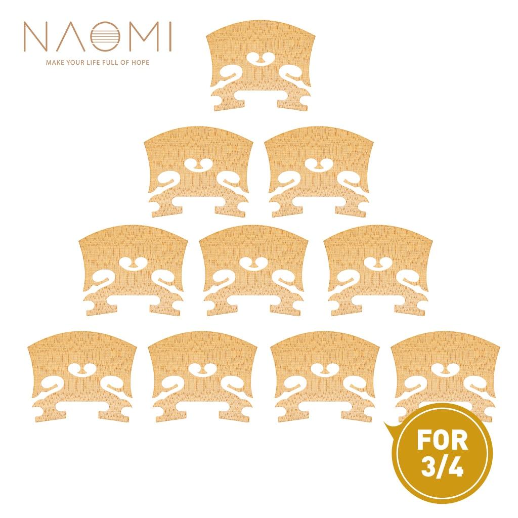 NAOMI 10pcs/1set Baroque Style Violin Bridge Select Dried Maple Wood Enhances The Tonal Output Of Violin For 3/4 Violin dubourg george the violin