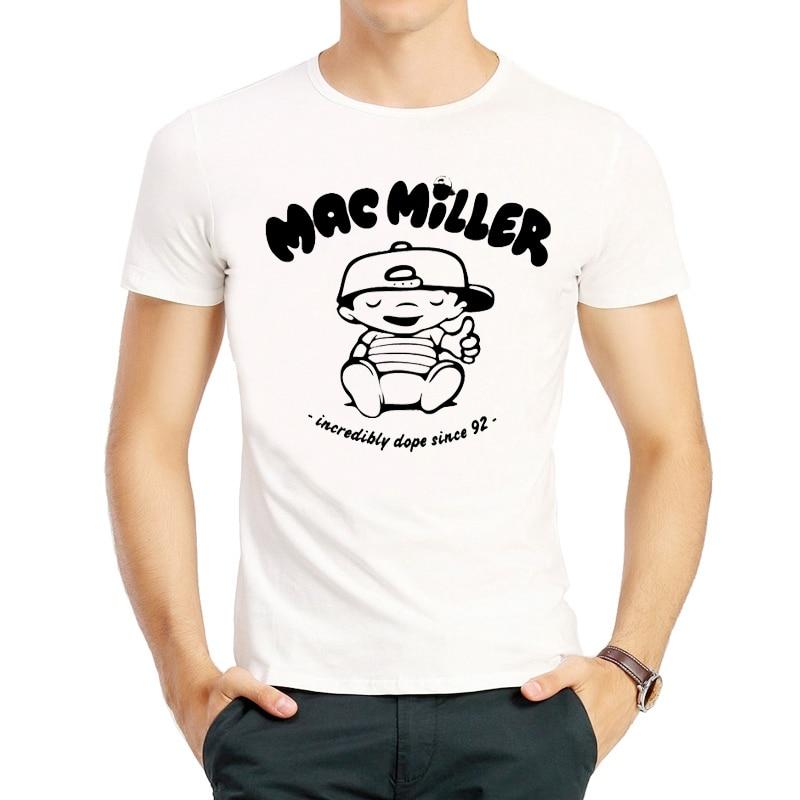 Mac Miller T camisa Color blanco de moda Mac Miller camiseta camisetas Homme Harajuku para Mac Miller camiseta