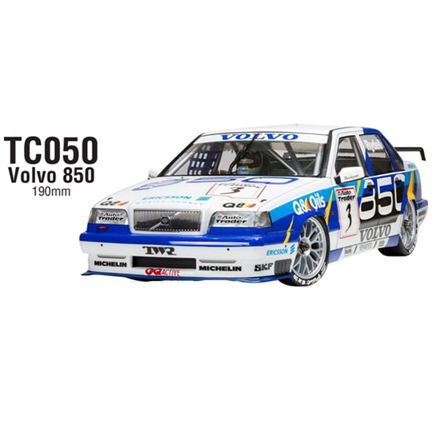 TC050 1/10 On Road RC Car Volvo 850 BTCC Toys Model Clear PC Body Shell Set 190mm Fit For 1:10 On-Road HSP Kyosho Tamiya HPI enlarge