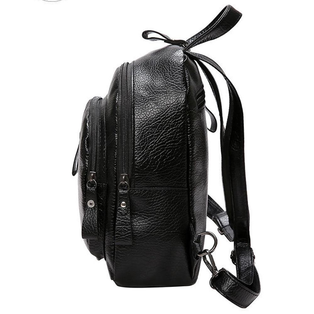 Ransel wanita PU kulit beg sandang perjalanan beg sandang gadis - Beg galas - Foto 5