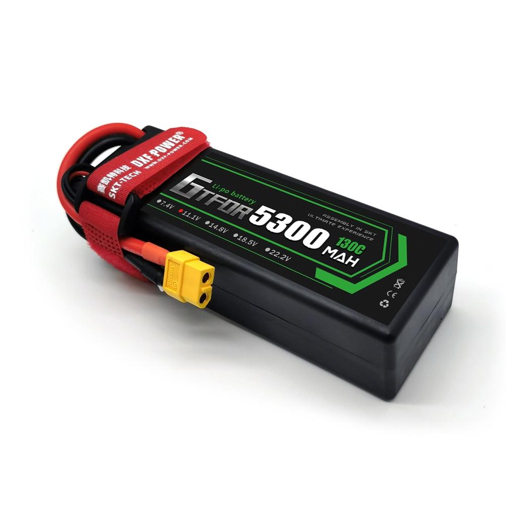 2PCS GTFDR lipo battery 3S 11.1V 8400mah 7300mah 5300mah 6500mH 110C 130C130C 60C for rc car Truck boat 1/8 1/10 buggy enlarge