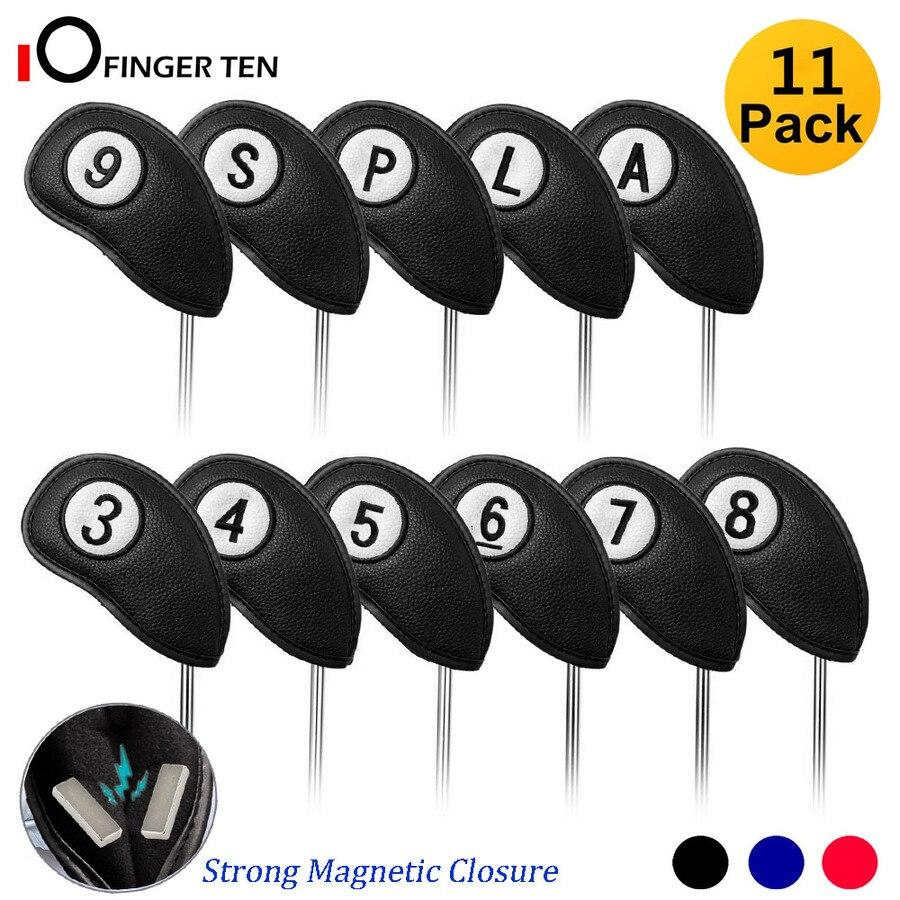 Novo fechamento magnético cabeça de golfe cobre ferro conjunto 11 pces não. em ambos os lados para direita & canhoto golfista com forte
