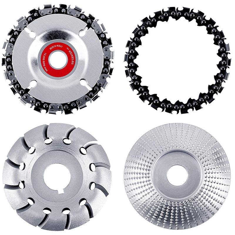 چرخ چرخ چوب زاویه ای 4 عدد 12 دندان دیسک پرداخت چوب و شکل دادن ، برش چوب