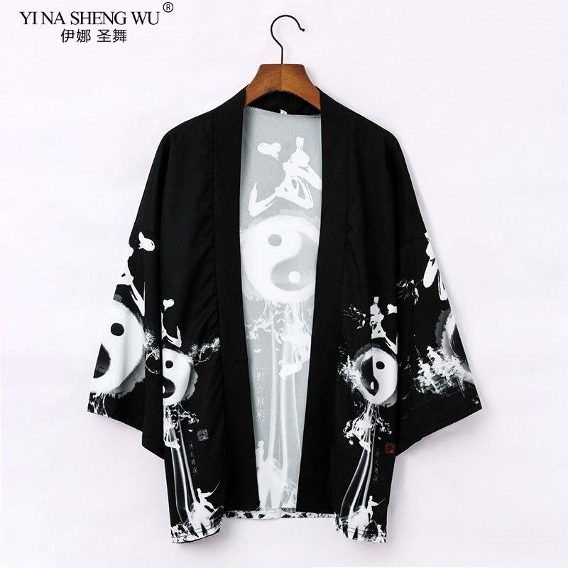 Kimono japonais pour hommes et femmes, haori yukata, costume homme samouraï, kimono, manteau, yukata haori robe chinoise