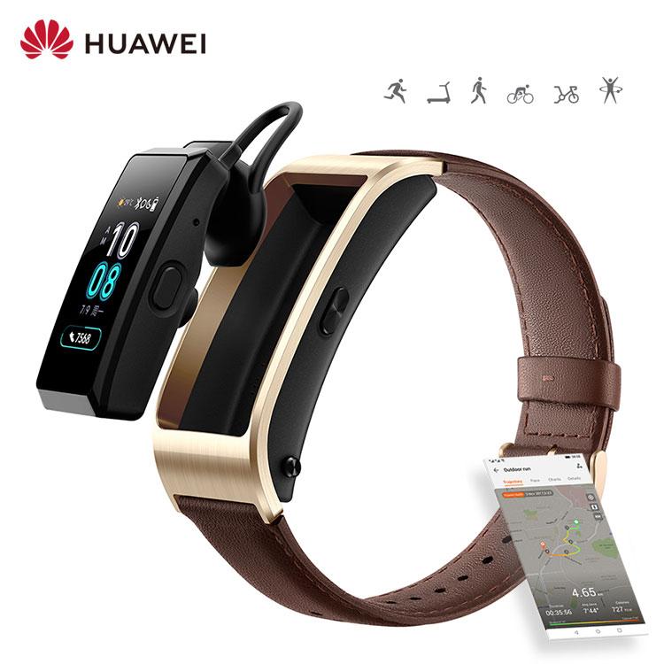 Get Huawei Talkband B5 Smartwatch Fitness Heart Rate Noise Cancelling Earbuds Calling Bracelet 2 In 1 Smart Watch With Earphone