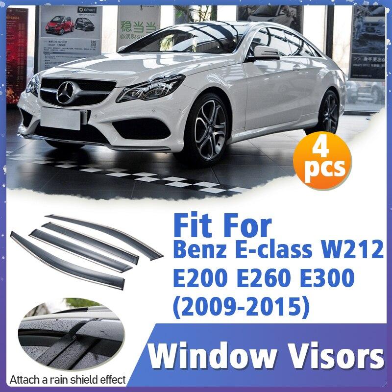 Window Visors Guard for Benz E class W212 E200 E260 E300 2009-2015 Cover Trim Awnings Shelters Protection Deflector Rain Rhield