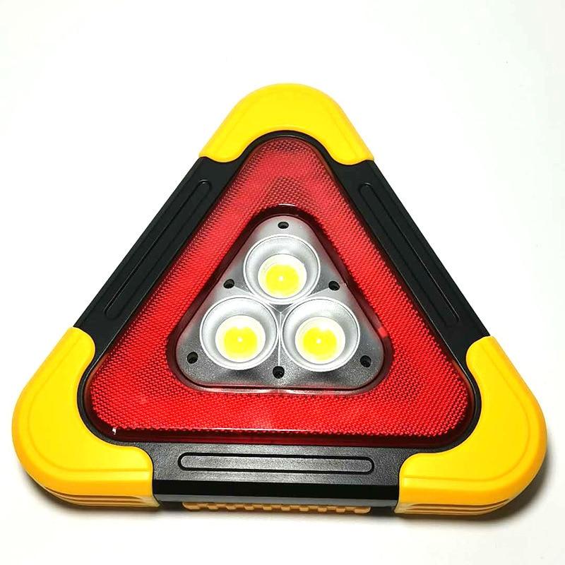 Автомобильное предупреждение о аварийном разрыве, треугольный светодиодный мигающий светящийся на солнечной батарее, красный светоотражающий Штатив для безопасности, стоп-сигнал, светоотражающие автомобильные аксессуары