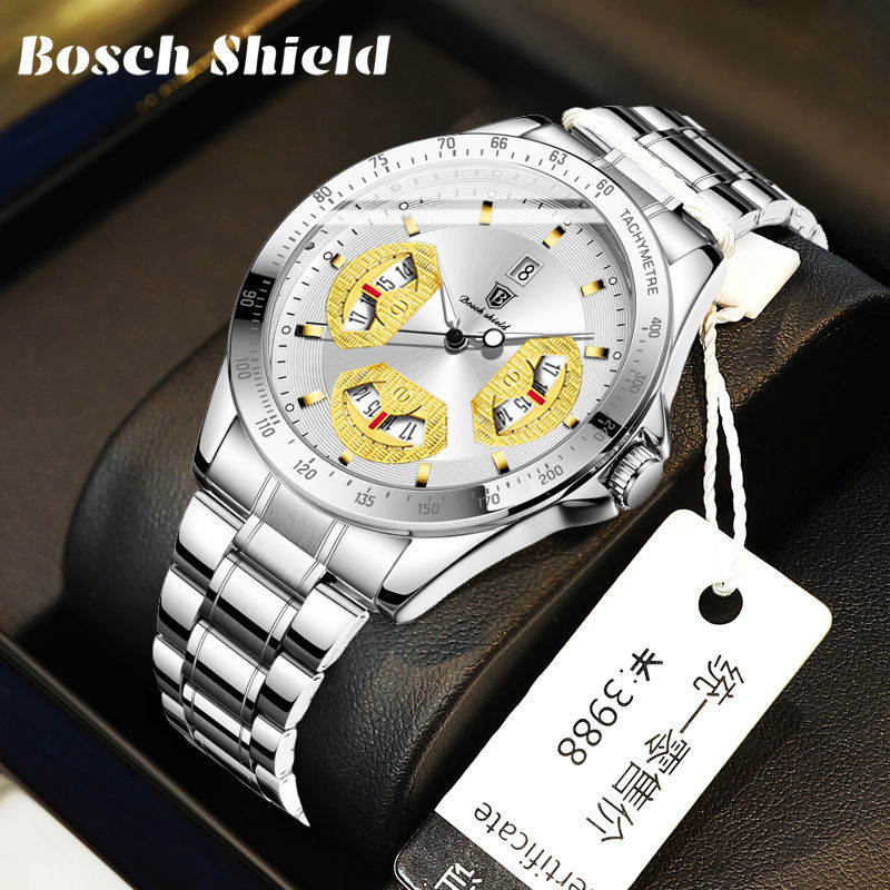 Men's fashion simple business watch hollow ultra-thin steel band watch waterproof luminous fully aut