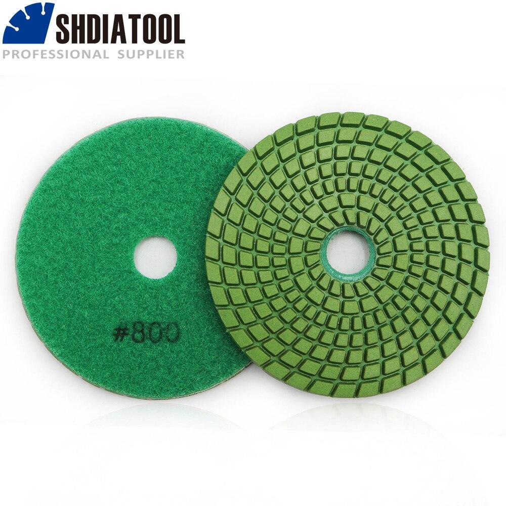 DIATOOL 10pcs Dia 100mm Grit 800# Diamond Flexible Wet Polishing Pad For Stone, Sanding Discs
