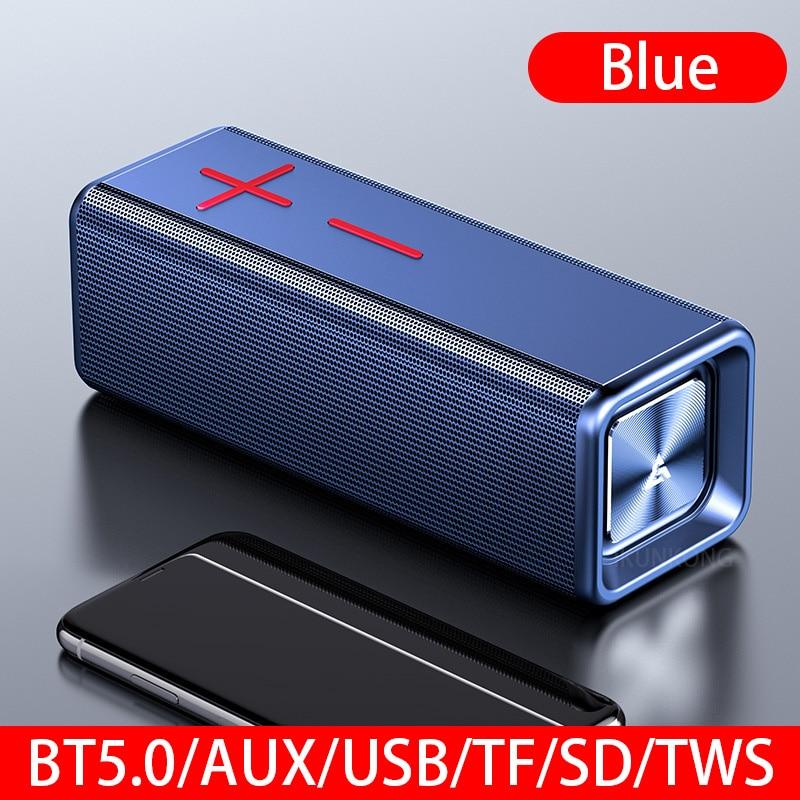 Altavoz Bluetooth, Altavoz portátil con Subwoofer, Parlante portátil, Altavoz USB, Boombox