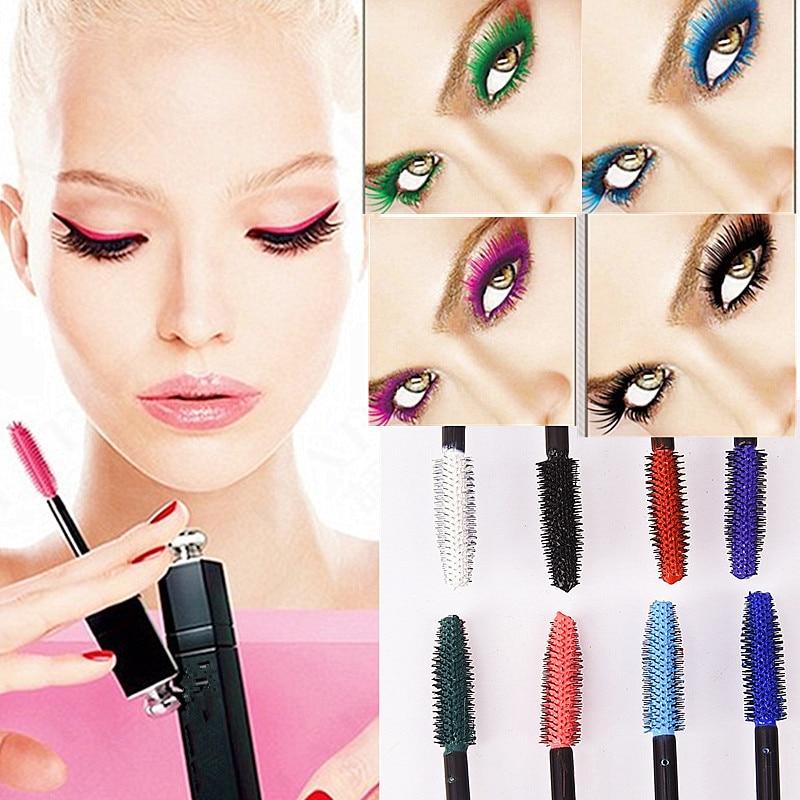 8Colors Mascara Waterproof Fast Dry Eyelashes Lengthening Women Makeup Eye Lashes Blue Green Red Purple Black White Ink Mascara