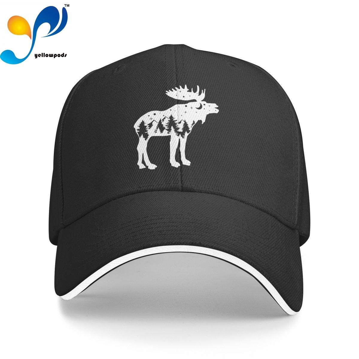 Бейсболка с изображением лесного оленя, Кепка-бейсболка для мужчин, мужские шапки с Бейсбольным клапаном, кепки с логотипом