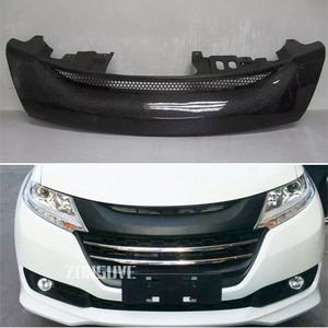 Use For Honda Odyssey 2015-2017 Year Carbon Fibre Refitt Front Center Racing Grille Cover Accessorie Body Kit Zonsuve