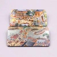 Aimant de refrigerateur commemoratif de lhistoire chinoise pour peintures celebres anciennes  scene de bord de riviere au Festival de Qingming  decoration de la maison