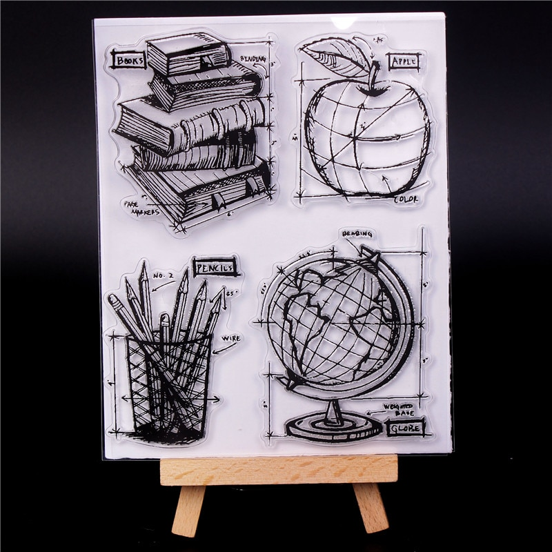 Nowy alfabet przezroczysta silikonowa przezroczysta arkusz pieczątek przylgnięcie Scrapbooking DIY uroczy wzór albumu fotograficznego kartek papierowych dekoracyjny