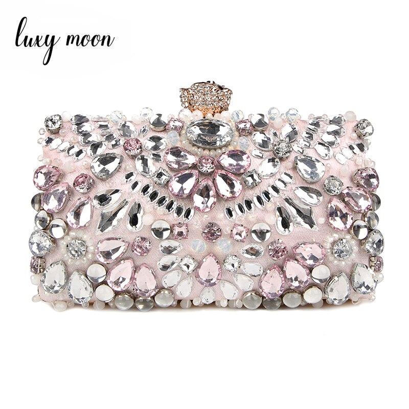 Luxy Moon, Женский вечерний клатч, сумочка-клатч со стразами, дамские сумочки, свадебные сумочки, Кошелек вечерние вечерняя сумочка, ZD848
