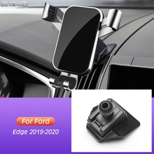 Car Mobile Phone Holder Air Vent Mounts GPS Stand Gravity Navigation Bracket Outlet Clip For Ford Edge 2019 2020 Car Accessories