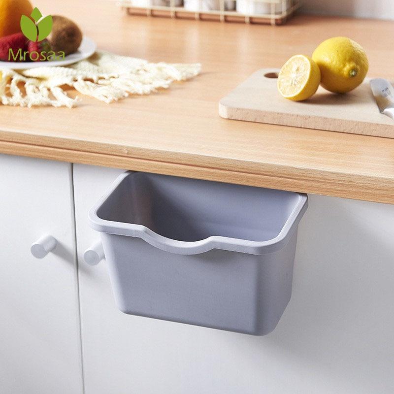 Armario de cocina, puerta, cubo de basura colgante, contenedor de basura de cocina, contenedor de almacenamiento de buena ayuda
