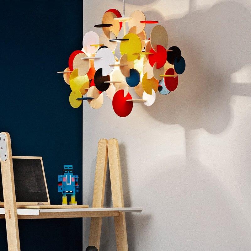 Lámpara colgante moderna con cuerda para decoración del hogar E27, lámpara colgante para sala de estar