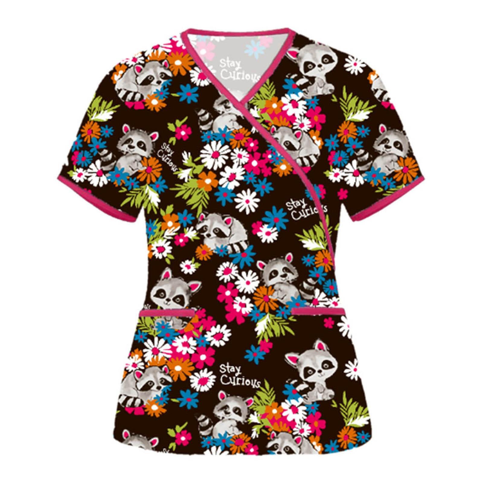 Униформа для медсестры с принтом животных, униформа для мужчин и женщин, униформа для стоматологических клиник, униформа для медсестер, руб...