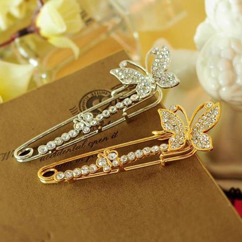 Cardigan broche de cristal borboleta cachecol pinos minimalista festa de casamento roupas vestido clipe broche ll @ 17