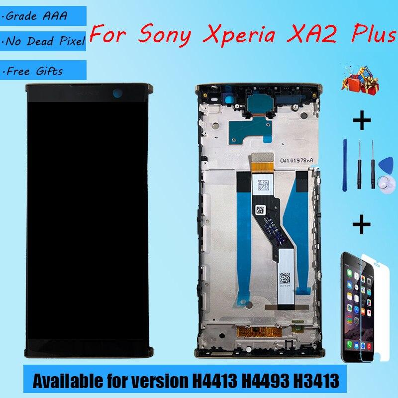 Para Sony Xperia XA2 Plus H4413 H4493 H3413, conjunto de pantalla LCD táctil con cristal frontal, pantalla LCD original negra