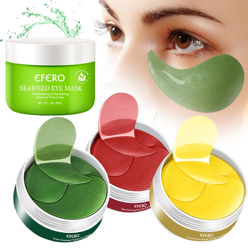 EFERO В переменного тока, 50-180 ПК Crystal коллагеновая маска для глаз для крем для лица против морщин и гелевые маски для глаз патчи под против мешков под глазами, темных кругов возле глаз, увлажняющий антивозрастной