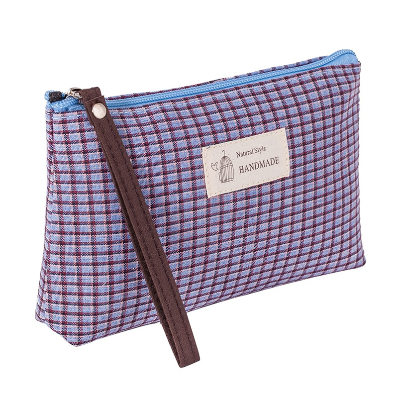 Повседневная холщовая дорожная косметичка, сетчатая Портативная сумка для хранения на молнии, ручная сумка для мытья