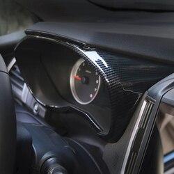 Painel de instrumentos do carro traço bezel capa guarnição abs adesivo fibra carbono para subaru forester sk 2018 2019 fosco decoração