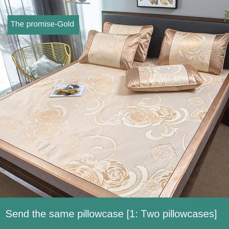 طقم سرير مفرد ومبيت نوم من الحرير الجليدي ، 3 قطع ، قابل للطي ، غسول منزلي ، مكيف هواء ، مقعد ناعم ، لفصل الصيف