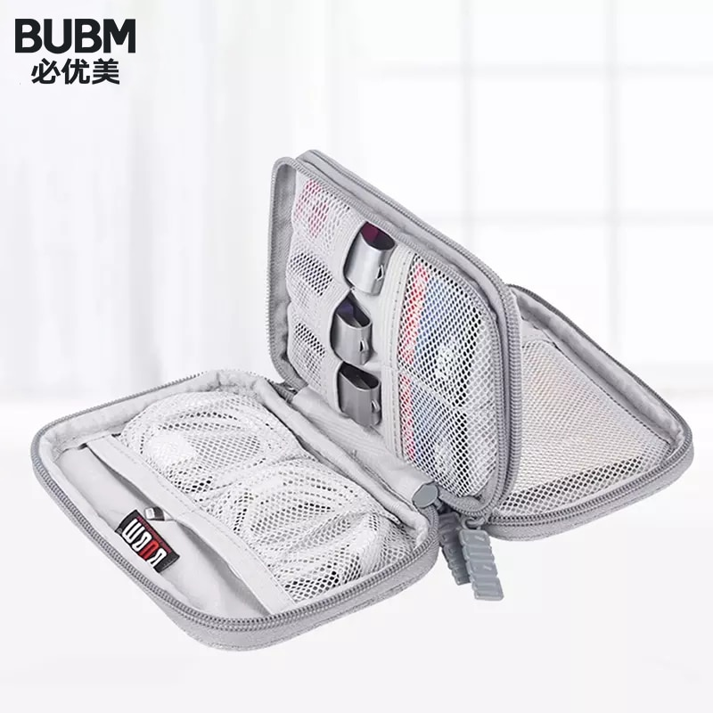 BUBM Portable 2.5'' External Hard Drive Case Cover,2.5 Inch Bag Disk HDD Protection Box Electronics Travel Organizer/ Cable Bag