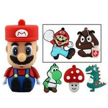 USB-Stick 32GB Super Mario Cartoon Bowser Stick 64GB Lustige Usb-Stick 16GB Memory Stick disk 8GB 4GB Cle Stift Stick