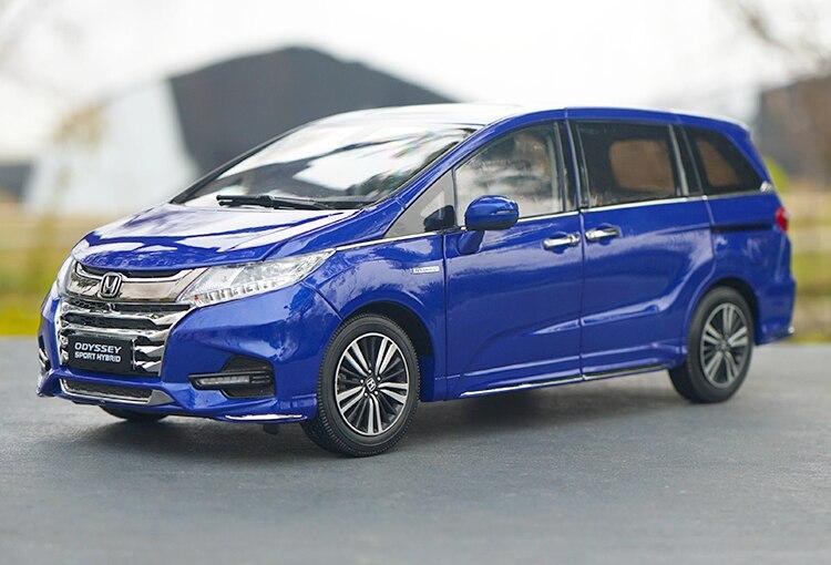 Original exquisito fundido 2019 nuevo 118 Honda Odyssey híbrido fundido a presión modelo de coche para la colección, regalo