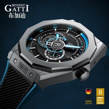 Top Brand Automatic Mechanical Watch Men Sapphire Luminous Hands Mens 50M Waterproof Sports Wristwatches Relogio Masculino