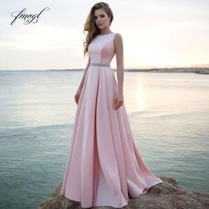 Fmogl Elegant Scoop Neck Matte Satin Vintage Wedding Dresses 2019 Luxury Simple Sashes Sweep Train A Line Bridal Gowns Plus Size
