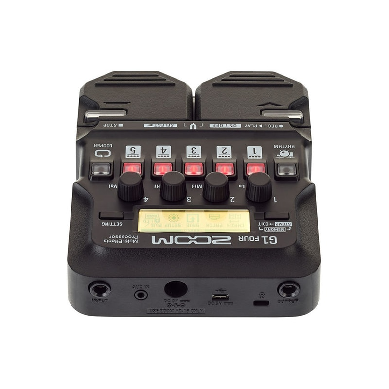 Zoom G1 FOUR Guitar Multi-Effects Processor Pedal, With 60+ Built-In Effects, Amp Modeling, Looper, Rhythm Section, Tuner enlarge