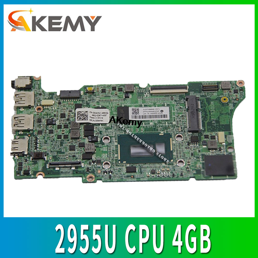 54HNK для For DELL Chromebook 11 материнская плата для ноутбука 2955U процессор 4 Гб ОЗУ DA0ZM7MBAC1 054HNK протестировано
