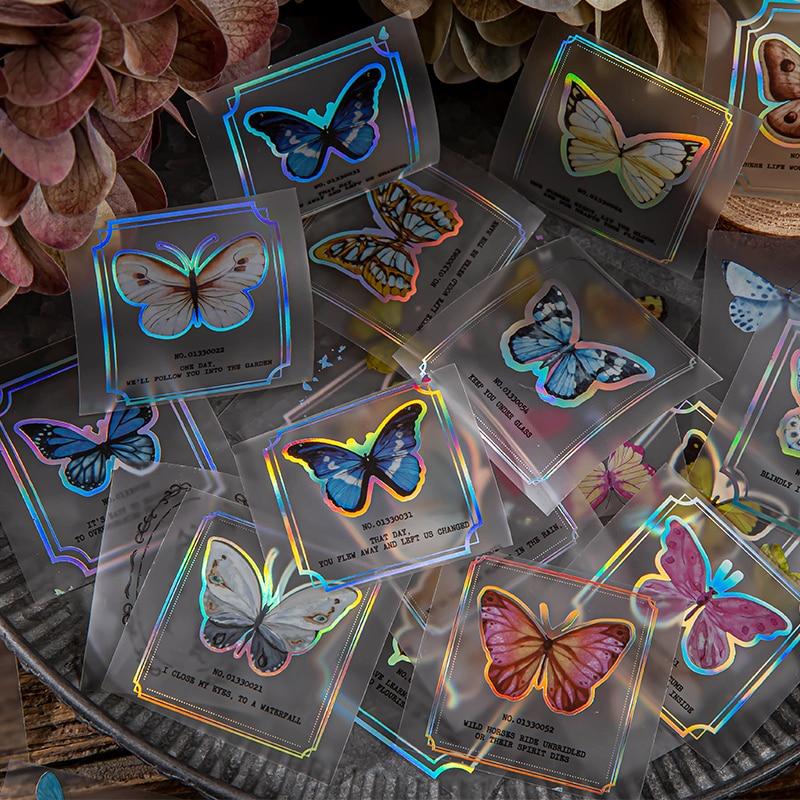 Матовая наклейка в виде бабочки Dimi 50 мм * 3 м серии Dreamland наклейка для домашних животных лента «сделай сам» Скрапбукинг дневник альбом творче...