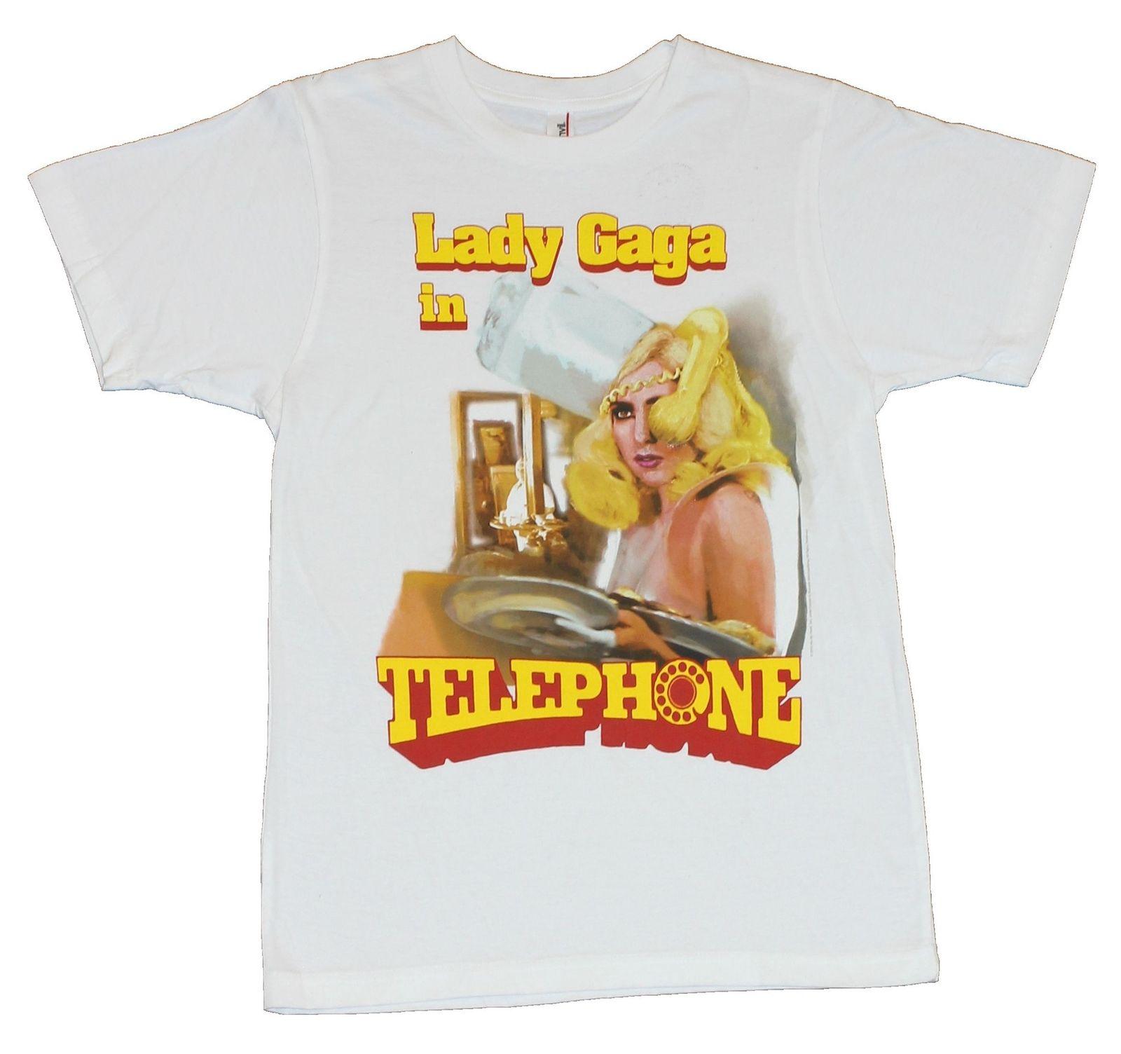 Señora Gaga Mens T-Shirt - Gaga en teléfono Cartoon camiseta hombres Unisex nueva moda camiseta envío gratis tops divertidos